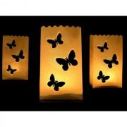 Pachet Lampioane decorative, fluturi, 10 buc