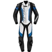 Spidi Laser Pro Jednodílný perforovaný motocyklový kožený oblek 56 Černá Modrá