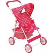 Carucior Baby Mix pentru papusi Pink Spotted