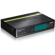 TRENDnet 8-Port Gigabit PoE+ Switch, 123 W PoE Power Budget, 16 Gbps Switching Capacity, Metal housing, TPE-TG80G, V3.0R (Renewed)