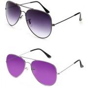 Magjons Aviator Sunglasses Combo Set of 2 With box MJ7773