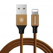 Apple Baseus 1 8 m 2A Yiven kabel geweven stijl metalen hoofd 8 Pin op USB Sync opladen datakabel voor iPhone & iPad & iPod(Coffee)