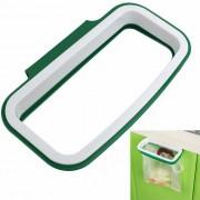 Gabinete de cocina Puerta soporte para colgar la basura - Blanco + Verde