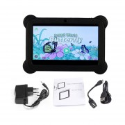 Q88 Niños Tablet De 7 Pulgadas, 512 MB+4GB33 Quad Core Android 4.4 Tablet PC Negro