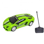Emob Super Sports Rally Remote Control Racing Car With Front Flashing Light (Green)