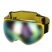 SEA AGRADABLE SNOW4200 anti-niebla de lente esferica Esqui gafas - Amarillo