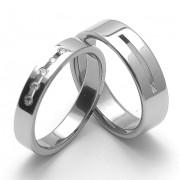 Snubní prsteny z chirurgické oceli ZERO Collection rz04025+rz86010