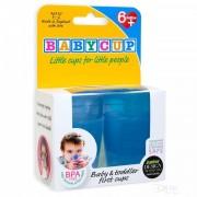 Primul meu pahar pentru bebelusi si copii Babycup Albastru 6+