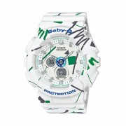 reloj de mujer grafiti modelo BA-120SC-7A casio baby-g - blanco