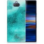 Sony Xperia 10 Plus Uniek TPU Hoesje Painting Blue