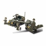 Stavebnice Sluban Army Jeep a protiletedlový kanón M38-B5900