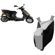 AUTOAGE Premium SILVER with BLACK Bike Body Cover For Hero Electric Bikes Electric Wave Dx