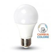 LAMPADINA LED E27 9W CAMBIACOLORE A 3 STEP VT-2119-LED7317