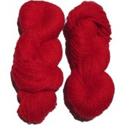 Vardhman Butterfly Red 200 Gm (2 Pc) hand knitting Soft Acrylic yarn wool thread for Art & craft Crochet and needle