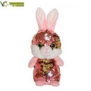 Детска плюшена играчка - Зайче с пайети, 14см., 391080
