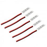 Controles de tira de luz mini RGB LED de 4 pines - negro + rojo