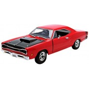 1969 Dodge Coronet Super Bee Diecast Car Model 1/24 Red Die Cast Car by Motormax