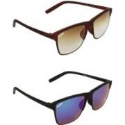 Averhub Wayfarer, Retro Square Sunglasses(Brown, Blue)