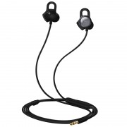 HUAWEI Honor AM16 3.5mm 4Pin In-ear Earphone Heart Rate Mood Monitor Headset with Mic - Black