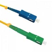 Qoltec Optic Patchcord SC/APC-SC/UPC - Singlemode - 9/125 - G652D - Simplex - 2m