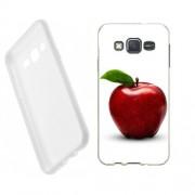 Husa Samsung Galaxy J5 J500 Silicon Gel Tpu Model Red Apple