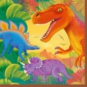 Geen Kinderfeestje dinosaurus servetten 16 stuks