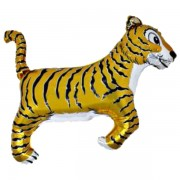 "Fólia lufi, nagyforma, Tigris 24"", arany"