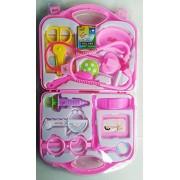 KITI KITS Doctor Set 15 Pcs Nurse Family oprated Medical Box Toy (HCCD Enterprise) (Blue and Pink)