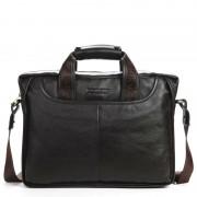 """100% GENUINE LEATHER Cowhide Shoulder Leisure Men's Bags Business Messenger Portable Briefcase Laptop Large Purse 14"""" Handbag"""