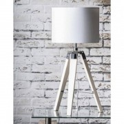 Inside75 Lampe DIM design en tissu blanc