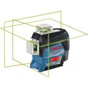 Nivela laser cu linii verzi GLL 3-80 CG + BM Bosch Professional + Suport + valiza
