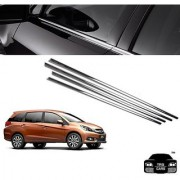 Trigcars Honda Mobilio Car Window Lower Chrome Garnish