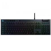Механична геймърска клавиатура logitech g815 lightspeed rgb gl tactile - carbon, черен, 920-008992