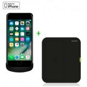 Zens Wireless Charging Case plus Wireless Charger Bundle - комплект док станция и кейс за безжично захранване за iPhone 8, iPhone 7