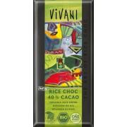 Ciocolata BIO cu bautura din orez si 40% cacao 100g Vivani