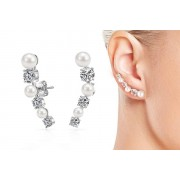 Pearl Philip Jones Pearl Climber Earrings Made with Crystals from Swarovski®