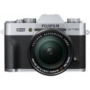 Fuji Korpus + obiektyw Fujifilm FinePix X-T20 + obiektyw 18-55mm srebrny