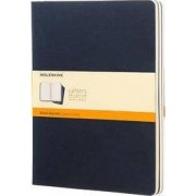 Moleskine Ruled Cahier Xl - Blue Cover (3 Set) by Moleskine
