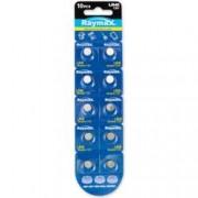 Raymax Batteries Batterie a bottone Alcalina LR41 LR736 392 AG3 (set 10 pz)