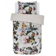 Essenza Bavlněné povlečení na postel, saténové povlečení, obrázkové povlečení, povlečení na jednolůžko, velké květiny, Essenza, bílé barvy, květinový design,…