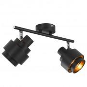 vidaXL 2-посочна спот лампа, черна, E14