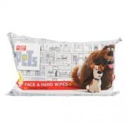 Universal The Secret Life Of Pets Face & Hand Wipes Детска козметика Unisex За всички типове кожа