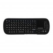EY KP iPazzPort-810-19S Versión rusa 2.4G Mini Teclado Inalámbrico para PC-Negro