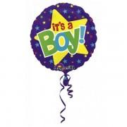 Balon folie It's A Boy cu Stelute