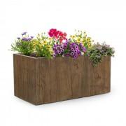 Timberflor bloempot 80 x 40 x 40 cm GVK in-/outdoor bruin