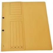Dosar din carton cu capse 1/2 galben tip L