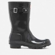Hunter Women's Original Short Gloss Wellies - Dark Slate - UK 4 - Grey