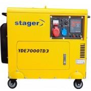Generator insonorizat Stager YDE7000TD3, diesel, trifazat