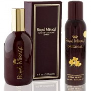 Royal Mirage Eau De Cologne Spray Original 120ml + Royal Mirage Body Spray Original 200ml