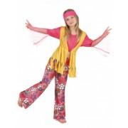 Vegaoo Veelkleurige hippie outfit voor meisjes M 122/128 (7-9 jaar)